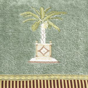 Decorative Bath Towels: Peridot Avanti Banana Palm