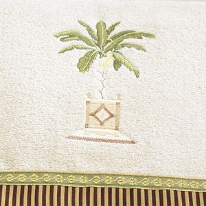 Decorative Bath Towels: Linen Avanti Banana Palm