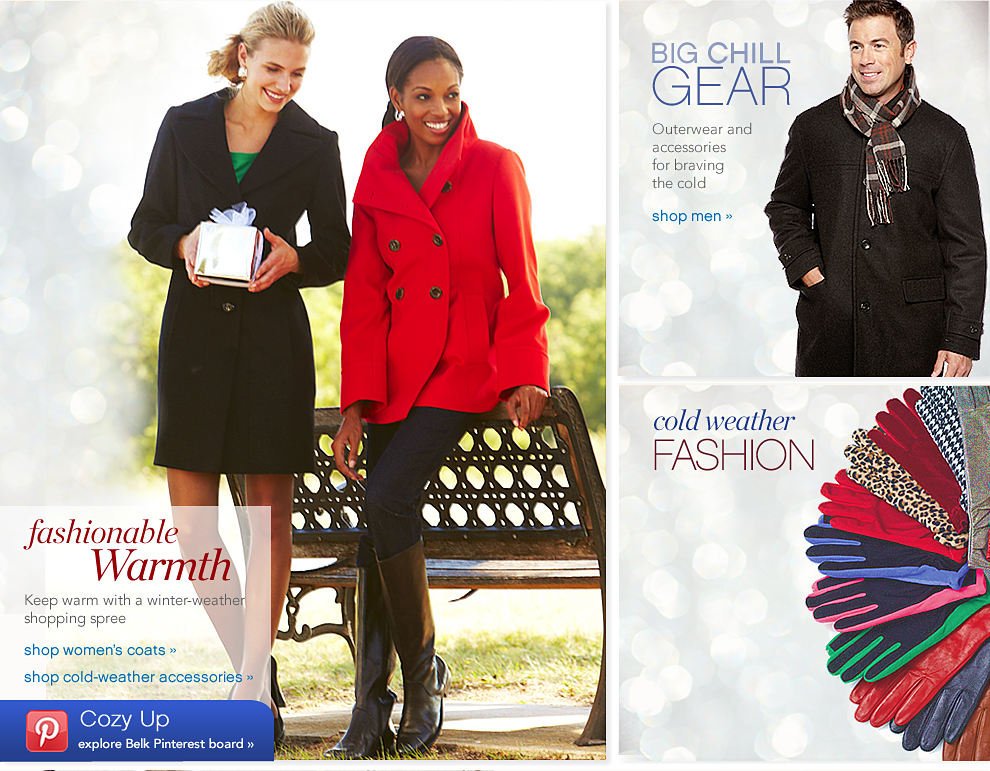 Fashionable Warmth Keep warm with a winter-weather shopping spree