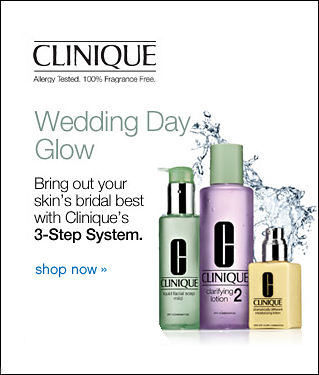 Clinique Allergy Tested. 100% Fragrance Free. Wedding Day Glow Bring out your skin's bridal best with Clinique's 3-step Systerm shop now