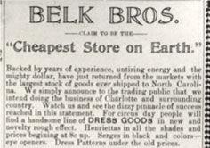 Belk Brothers Advertisement