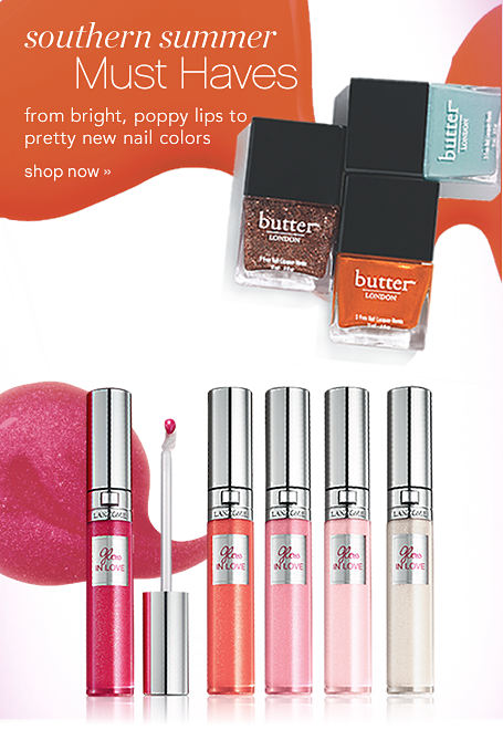 southern summer Must Haves from bright, poppy lips to pretty new nail colors - shop now