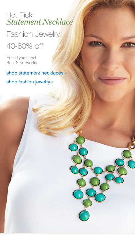 Hot Pick: Statement Necklace Fashion Jewelry 40-60% off Erica Lyons and Belk Silverworks