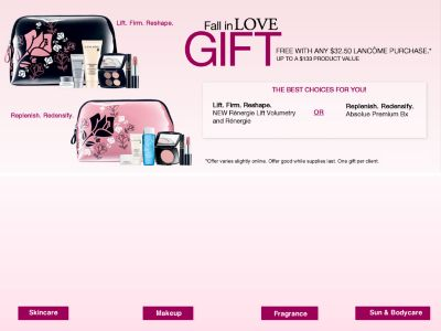 Thread: Belk ~ Fall in Love Gift Free with any $32.50 Lancome Purchase