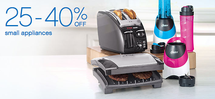 25 - 40% off small appliances