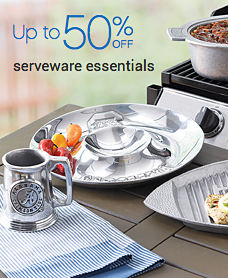 Up to 50% off serveware essentials