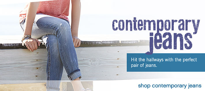Contemporary Jeans: Hit the hallways with the perfect pair of jeans - shop contemporary jeans