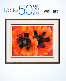 Up to 50% off wall art