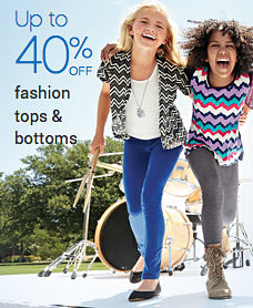 Up to 40% off fashion tops & bottoms