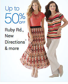 Up to 50% off Ruby Rd., New Directions & more