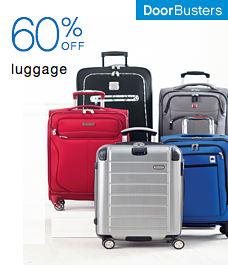 Door Busters 60% off luggage