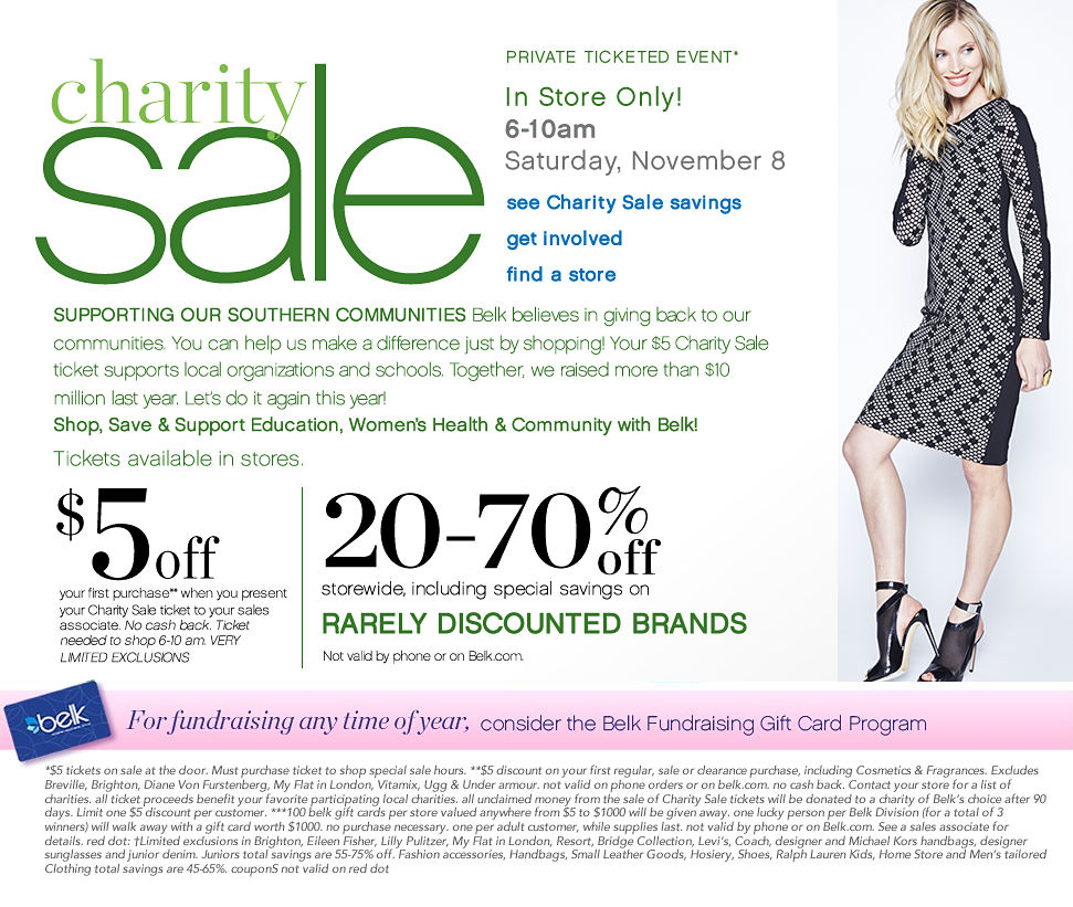 Charity Day Sale