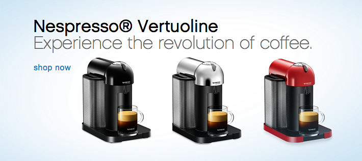 Nespresso Vertuoline, Experience the revolution of coffee.