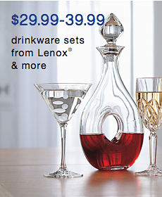 $29.99 to 39.99 drinkware sets from Lenox® & more
