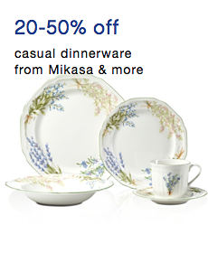 20 to 50% off casual dinnerware from Mikasa & more
