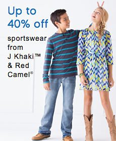 Up to 40% off sportswear from J Khaki™ & Red Camel®