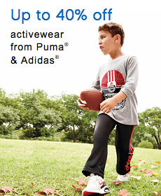 Up to 40% off activewear from Puma® & Adidas®