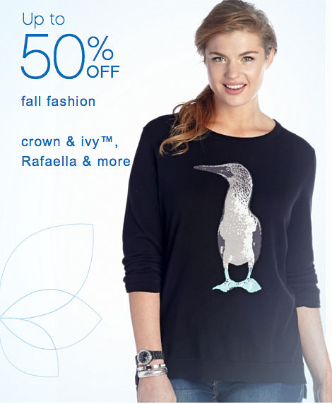 Up to 50% off fall fashion | crown & ivy™, Rafaella & more