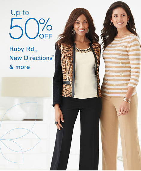 Up to 50% off Ruby Rd., New Directions® & more