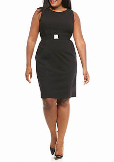 Calvin Klein Plus Size Belted Dress