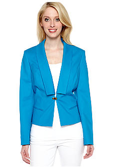 Calvin Klein Clip Front Jacket with Removable Collar