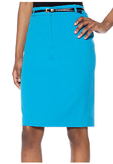 Calvin Klein Belted Pencil Skirt
