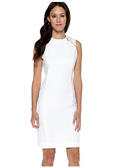 Calvin Klein Shoulder Zip Sheath Dress