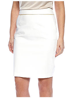 Calvin Klein Zipper Waistband Pencil Skirt