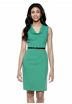 Calvin Klein Drape Neck Sheath Dress