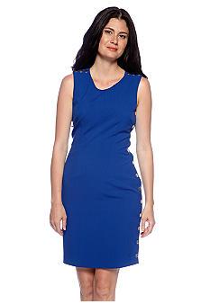 Calvin Klein Side Button Sheath Dress