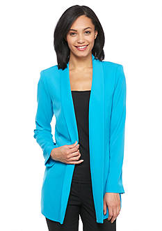 Calvin Klein Solid Open Front Soft Jacket
