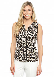 Calvin Klein Print Sleeveless Top