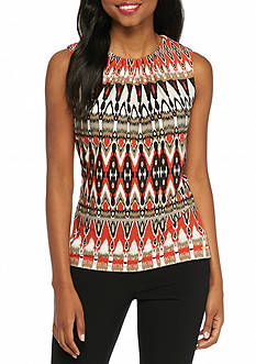Calvin Klein Sleeveless Print Top