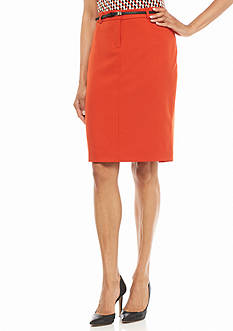 Calvin Klein Solid Pencil Skirt