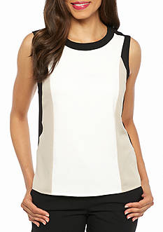 Calvin Klein Colorblock Sleeveless Blouse