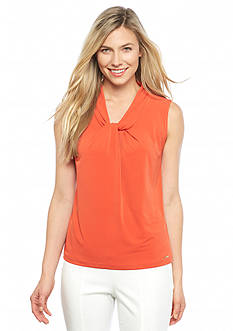Calvin Klein Solid Knot Neck Top