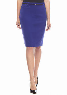Calvin Klein Solid Straight Skirt