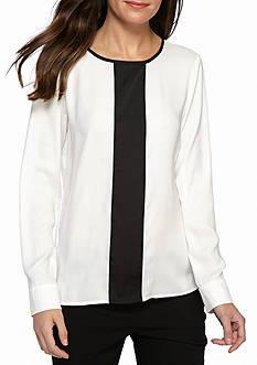 Calvin Klein Long Sleeve Button Cuff Blouse