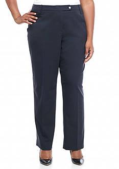 Calvin Klein Plus Size Solid Woven Pants