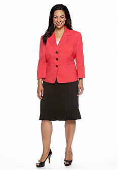 Le Suit Plus Size Rose Skirt Suit