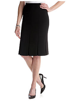 Kasper Crepe Panel Skirt