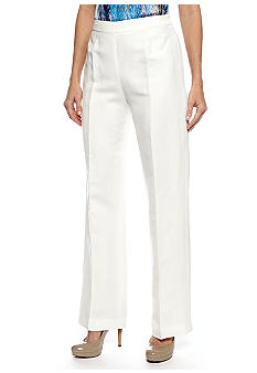 Kasper Side Zip Linen Pant