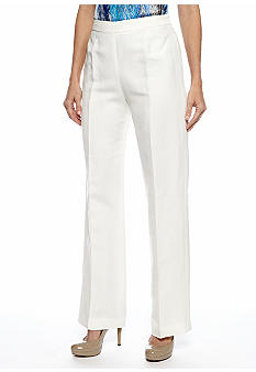 Kasper Petite Side Zip Linen Pants