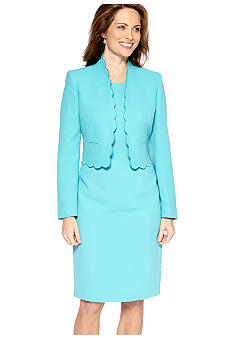 Kasper Scalloped Suit Jacket