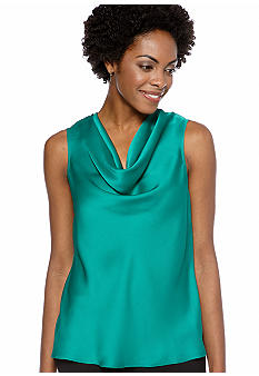 Kasper Plus Size Solid Cowl Neck Cami