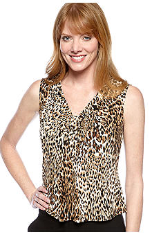 Kasper Plus Size Animal Print Cami
