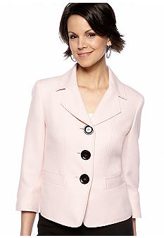 Kasper Petite Tweed Button Front Jacket