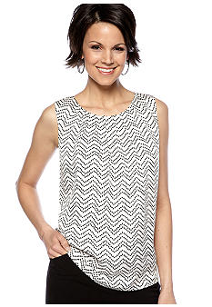 Kasper Dotted Pleat Neck Cami