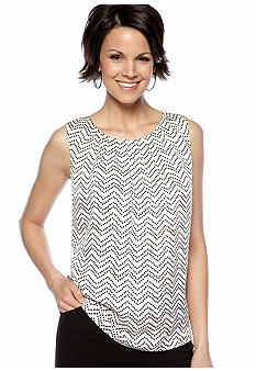 Kasper Petite Dotted Pleat Neck Cami
