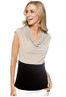 Kasper Colorblock Cowl Neck Cami